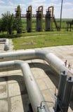 De industrie van het gas, gas-extractie royalty-vrije stock afbeelding