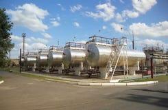 De industrie van het gas. gas-overbrengt Stock Foto