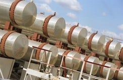 De industrie van het gas. gas-overbrengt royalty-vrije stock afbeeldingen