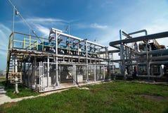 De industrie van het gas. zwavel-verbetering Stock Foto