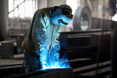De industriearbeider Stock Fotografie