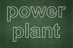 De industrieconcept: Elektrische centrale op bordachtergrond royalty-vrije illustratie
