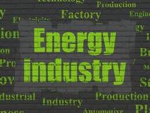De industrieconcept: Energieindustrie op muurachtergrond royalty-vrije illustratie