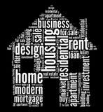 De industriegrafiek van de huisvesting Stock Afbeeldingen
