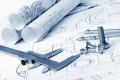 De industriella detaljerna för plan Royaltyfria Bilder
