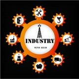 De industriepictogrammen Stock Fotografie