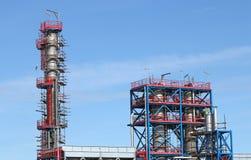 De industriestreek van de fabrieksbouwwerf Stock Afbeelding