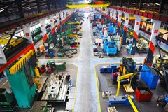 De industy fabriek van het metaal binnen Royalty-vrije Stock Fotografie