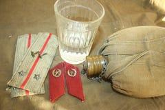 De infanterieluitenant werd toegekend de rang van hogere Luitenant stock foto's
