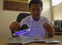 DE INFLATIE FEBRUARI VAN INDONESIË Stock Foto