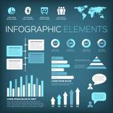 de infographic elementen van de aquamarijnkleur Royalty-vrije Stock Foto's