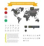 De infographic elementen van het Web geplaatst geïsoleerdn Royalty-vrije Stock Fotografie