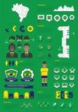 De infographic reeks van Brazilië Stock Fotografie
