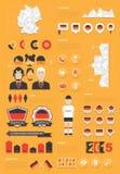 De infographic reeks van Duitsland Stock Afbeelding