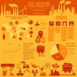 De infographic, vastgestelde elementen van de brandstofindustrie voor uw creëren binnen Royalty-vrije Stock Foto's