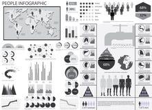 De infographic vectorillustratie van mensen. Royalty-vrije Stock Foto