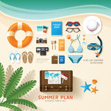 De Infographicreis die een van de de bedrijfs zomervakantie vlakte plannen lag Stock Foto
