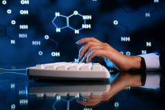 De informatie van DNA Royalty-vrije Stock Afbeelding