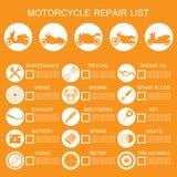 de informatie van het motorfietsdeel Royalty-vrije Stock Afbeeldingen