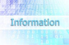 De Informatie van de tekstinschrijving wordt geschreven over semitransparent royalty-vrije stock fotografie
