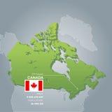 De informatiekaart van Canada Royalty-vrije Stock Afbeelding