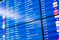 De informatieraad toont aanwijzingen voor de passagiers stock afbeelding