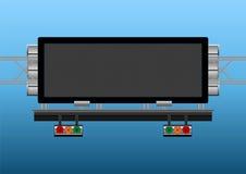 De informatieve elektronische vertoning van de weg vector illustratie