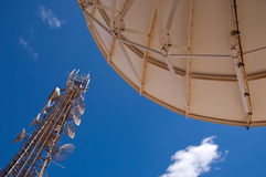 De infrastructuur van de telecommunicatie stock fotografie