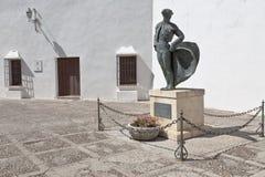 de ingång plaza ronda spain till toras Royaltyfri Foto