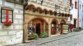 De ingang aan de bar Zapa in Cesky Krumlov Royalty-vrije Stock Fotografie