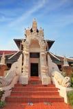 De ingang aan de Thaise tempel Stock Foto
