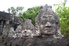 De ingang aan Gebied Angkor dichtbij Siem oogst, Kambodja Stock Foto's