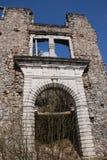 De ingang aan Hapsburg-Kasteel blijft royalty-vrije stock afbeeldingen