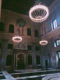 De ingang aan het koninklijke paleis van Amsterdam Stock Fotografie
