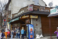 De ingang aan het restaurant van Stek Chalupa Royalty-vrije Stock Foto