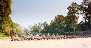 De ingang aan verbazende ruïnes van de 12de Eeuw van Preah Khan Temple in Angkor Siem oogst, Kambodja stock foto