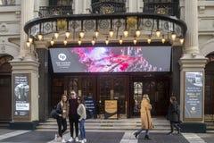 De ingang van de Argyllstraat aan het Palladium van Londen stock foto's