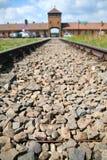 De ingang van Auschwitz Royalty-vrije Stock Fotografie
