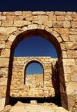 De ingang van Avdat Stock Afbeelding