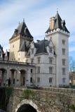De ingang van Castel van Pau in Frankrijk stock foto's