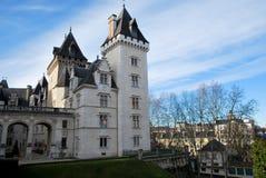 De ingang van Castel van Pau in Frankrijk stock foto