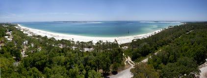 De Ingang van de Baai van Pensacola - de Mening van de Vuurtoren Stock Afbeelding