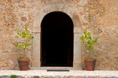 De ingang van de boerderij Royalty-vrije Stock Fotografie