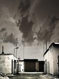 De ingang van de garage stock afbeeldingen