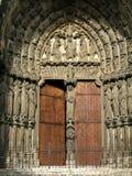 De ingang van de kathedraal Stock Foto