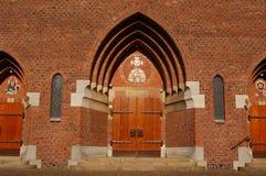 De ingang van de kerk Royalty-vrije Stock Fotografie