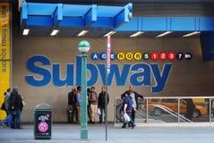 De Ingang van de Metro NYC Stock Foto's