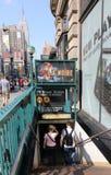 De ingang van de Metro van New York royalty-vrije stock afbeelding