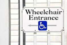 De Ingang van de rolstoel royalty-vrije stock foto's