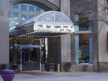 De ingang van de Staaf van het Restaurant van het hotel Stock Fotografie